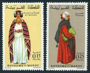 Morocco 199,201,MNH.Michel 656-657. Regional Costumes 09.23.1969.