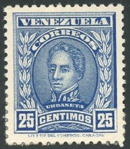 Venezuela Scott 253 Unused VFVLHDG - Rafael Urdaneta - SCV $3.25