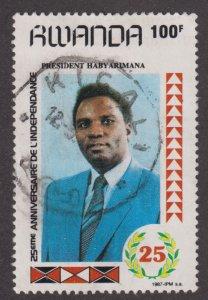 Rwanda 1286 President Juvénal Habyarimana 1987