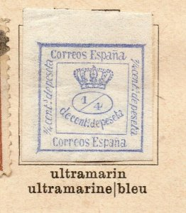 Spain 1872-73 Early Issue Fine Mint Hinged 1/4c. NW-16581