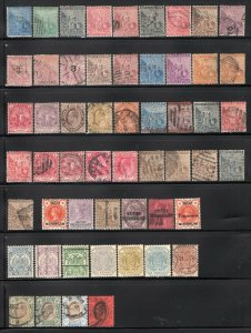 COGH + Bechuanaland, Transvaal Old Time Group 54 Stamps Mint-Used Hi CV