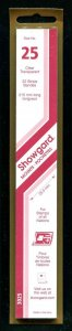 CLEAR Showgard Strip Mounts Size 25 = 25.5mm Fresh New Stock Unopened CLEAR