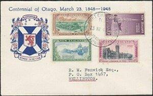 NEW ZEALAND 1948 Otago set on cover Port Chalmers Centennial commem pmk.....1718