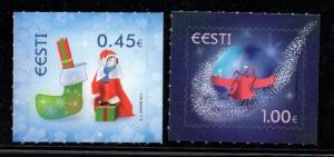 Estonia Sc 744-5 2013 Christmas stamp set mint NH