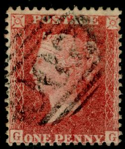 SG40, 1d rose-red, LC14, FINE USED. Cat £12. GG