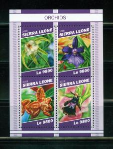 SIERRA LEONE 2018 WATER ORCHIDS SHEET  MINT NEVER HINGED