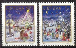 Lithuania 1995 Christmas set of 2 MNH