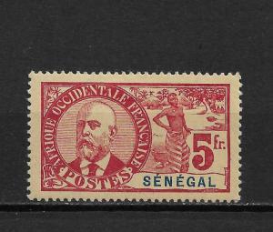 Senegal 1906,5fr,Sc 72,VF Mint hinged*OG ,nice color ! (FC-6)