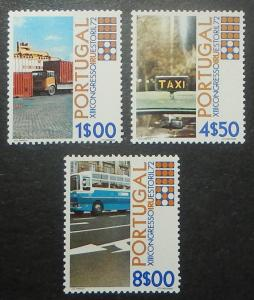 Portugal 1144-46. 1972 Road Transport Union, Trucks