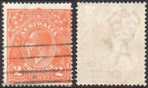 Australia 1921 2d dull orange used