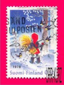 FINLAND 1978 Christmas Child Feeds Birds 1v Sc613 Mi833 Used