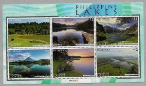 2018 Philipines Yvert & Tellier 4229-4234 Lakes of the Philippines MNH S/S