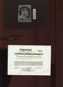 8 Var Franklin Type III Pos. 99R2 RARE Used Stamp with PSE Cert (Stock 8 A1)