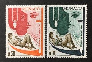 Monaco 1972 #841-2, MNH.
