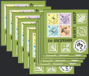 Ascension WHOLESALE Boy Scouts Movement 10 MSs SG#MS313 SC#304a SALE BELOW FACE