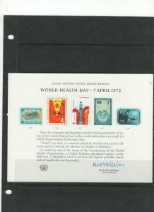 UN FDC Souvenier Cards