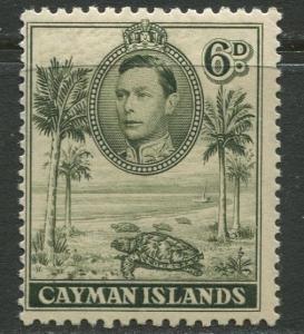 Cayman Islands - SG 122 - KGVI Definitive -1938 - MVLH- Single 6p Stamp