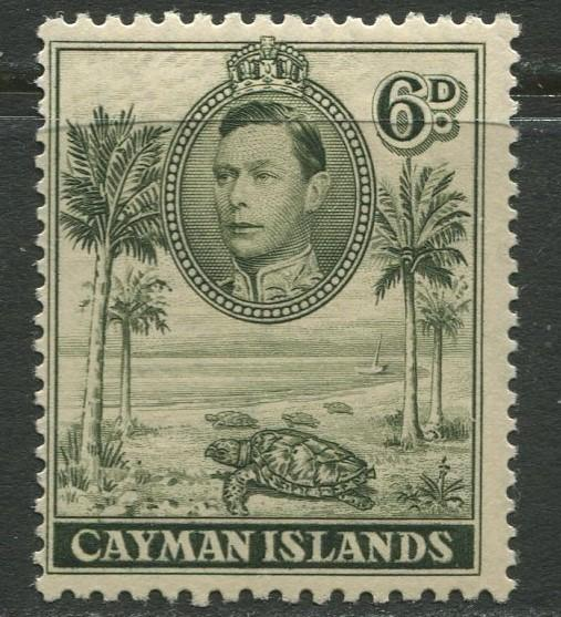 Cayman Islands - SG 122 - KGVI Definitive -1938 - MVLH- Single 6p Stamp