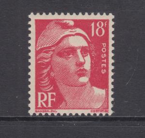 France Sc 654 MNH. 1951 18f cerise Marianne VF