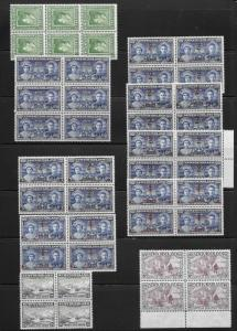 Newfoundland Mint Blocks Scott Number 245,249,250,251,265,270 Cat $59