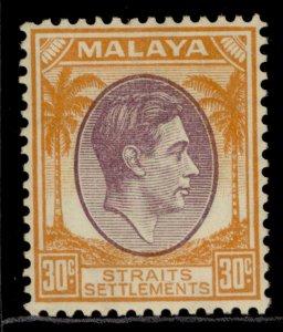 MALAYSIA - Straits Settlements GVI SG287, 30c, M MINT. Cat £20.