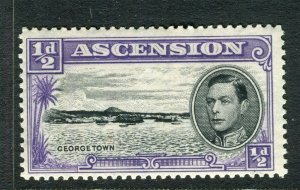 ASCENSION ISLAND; 1938 early GVI issue fine Mint hinged PERF 13.5, value 1/2d