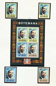 BOTSWANA - # 132-135 & 135a - VFMNH set & S/S - President, Self Government 1975