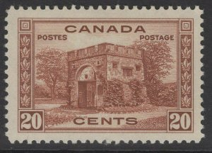 CANADA SG365 1938 20c RED-BROWN MNH