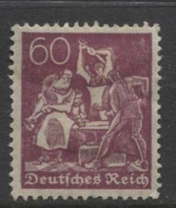 GERMANY. -Scott 168- Definitives -1921- MH - Wmk 126 - Single 60m Stamp