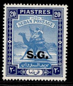 SUDAN GVI SG O57, 20p pale blue & deep blue, M MINT.