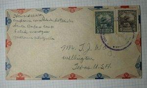 Venezuela  Airmail Cover Letter 1940 USA Used Sc# C150 C143