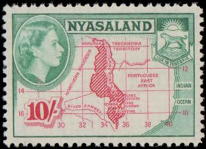 Nyasaland Protectorate #97-111, Complete Set(15), 1953, Never Hinged