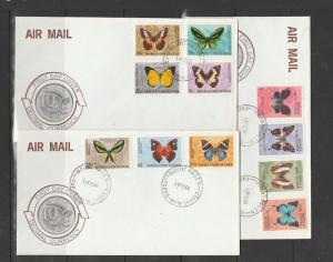 Papua & New Guinea, 1966 Butterflies on 3 Illus FDCs Unaddrssed, Mount Hagen can