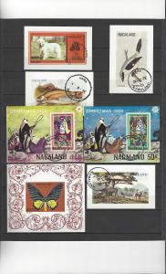 Nagaland 14 Souvenir Sheets Various Subjects  CTO Never hinged, full gum
