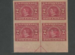 Block of 4 USA 2 Cent Stamps #371 Alaska Yukon William H. Seward - Brookman $155