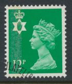 Northern Ireland SG NI35 SC# NIMH18 Used  with first day cancel 12p Machin