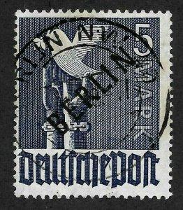 Doyle's_Stamps: Nice Authenicated 1948 Berlin Overprinted 5 Mark  Scott #9N20