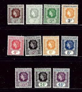 Leeward Is 133-43 MNH 1954 Partial Set