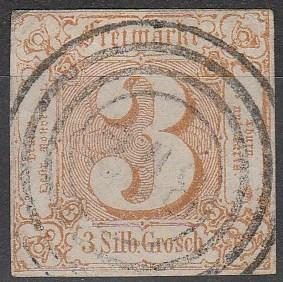 Thurn & Taxis #20  F-VF  Used CV $55.00 (A16120)