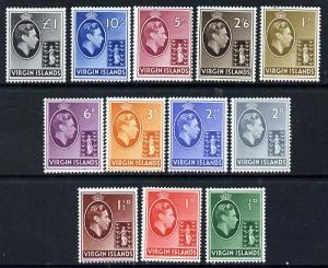 British Virgin islands 1938-47 KG6 definitive set complet...