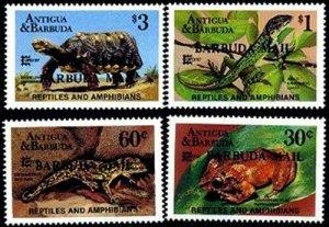 HERRICKSTAMP BARBUDA Sc.# 923-26 Turtle, Frog, Lizard Mint NH Stamps