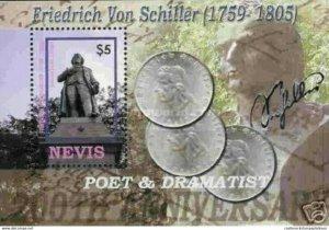 A) 2005, NEVIS, POET & DRAMATIST, FRIEDRISH VON SCHILLER BICENTENNIAL OF HIS DEA
