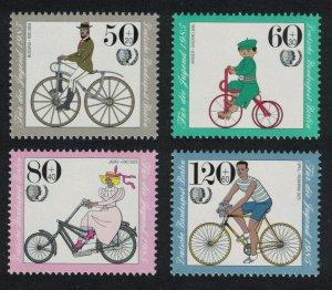 Berlin International Youth Year Bicycles 4v SG#B697-B700