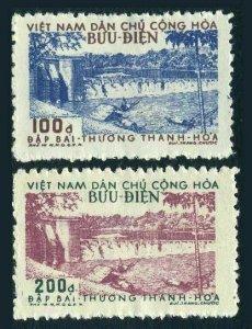 Viet Nam 47-48,lightly hinged.Michel 50A-51A. Bai Thuong Dam,1956.