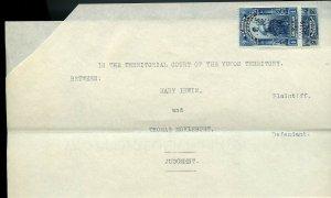 $1 and $2 usages 1915 Yukon Revenue JUDGEMENT  Document Canada