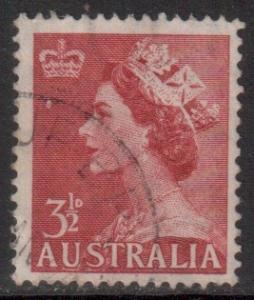 Australia Scott 258 - SG263, 1953 Elizabeth II 3.1/2d used