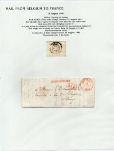 FRANCE Early Incoming LETTER/COVER 1841 fine used item Tournay - Douay