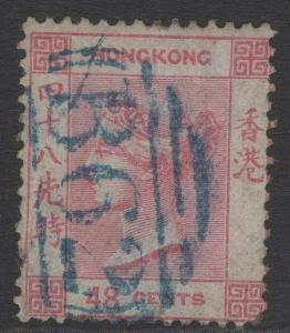 HONG KONG SG6 1862 48c ROSE USED