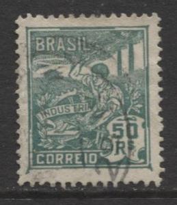 Brazil - Scott 221 - Industry Issue -1920 - Used - Single 50r Stamp