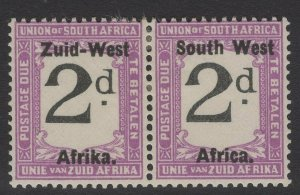 SOUTH WEST AFRICA SGD3 1923 2d BLACK & VIOLET MTD MINT